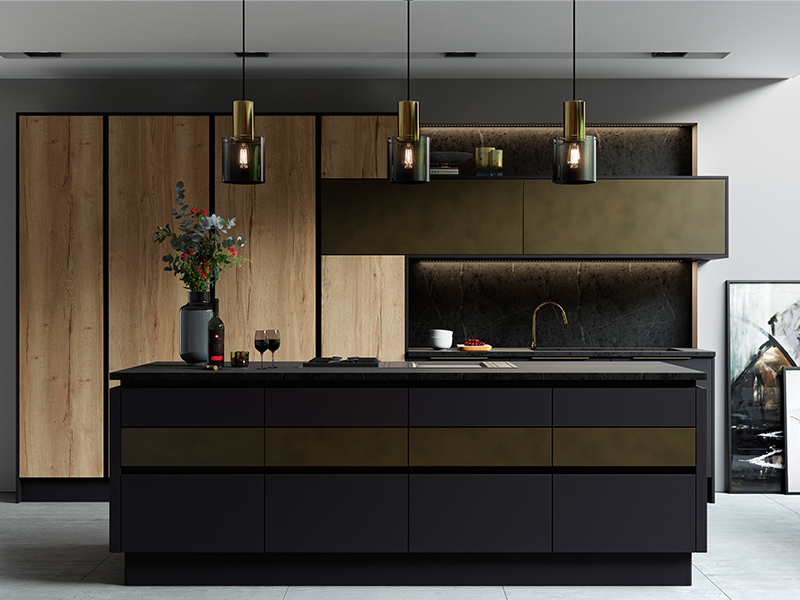 Lloyds Cosdon Matt Graphite Tarnished brass Halifax Oak