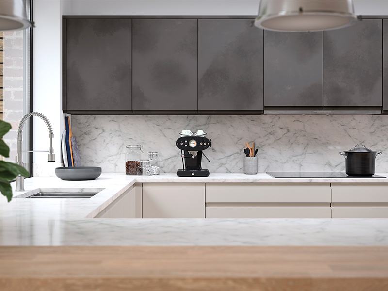 Lloyds Aconbury Black Steel and Savanna Contemporary Kitchens
