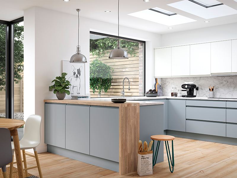 Lloyds Aconbury Luna and Porcelain Contemporary Kitchens