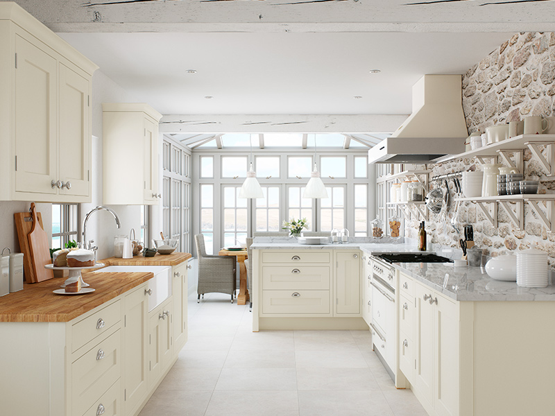 Lloyds Baystone Cream Classic Kitchen