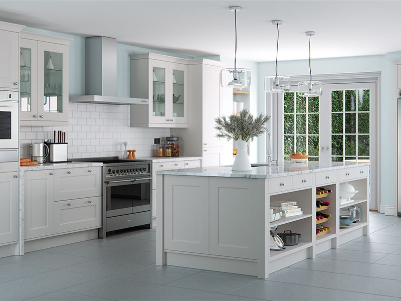 LloydsFlorence Light Grey Classic Kitchen