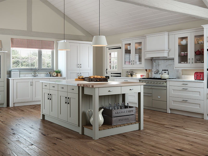 Lloyds Florence Painted Stone and Light Grey Classic Kitchen