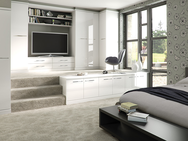 Lloyds Gloss with Sliders Bedroom