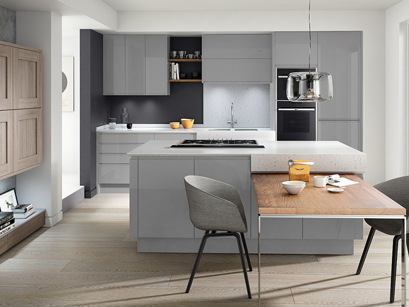 Lloyds Remo Silver Grey Contemporary Kitchens