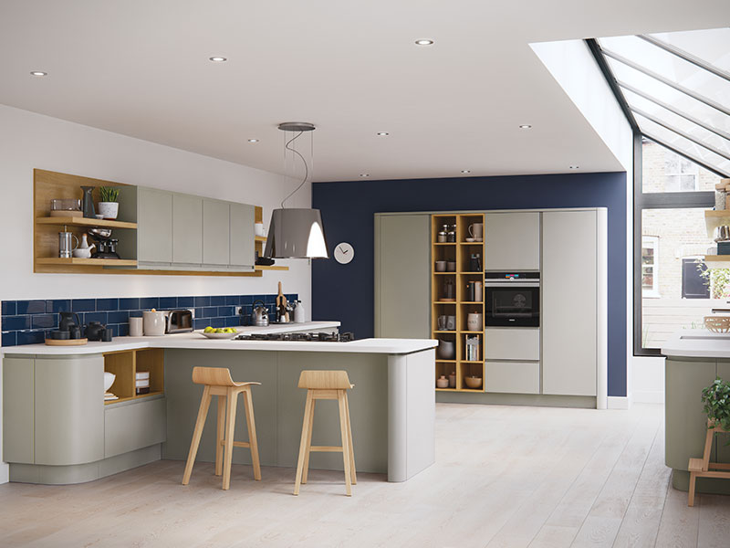 Lloyds Strada Matte Curved Stone Contemporary Kitchens