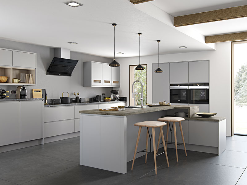 Lloyds Strada Matte Light Grey Contemporary Kitchens