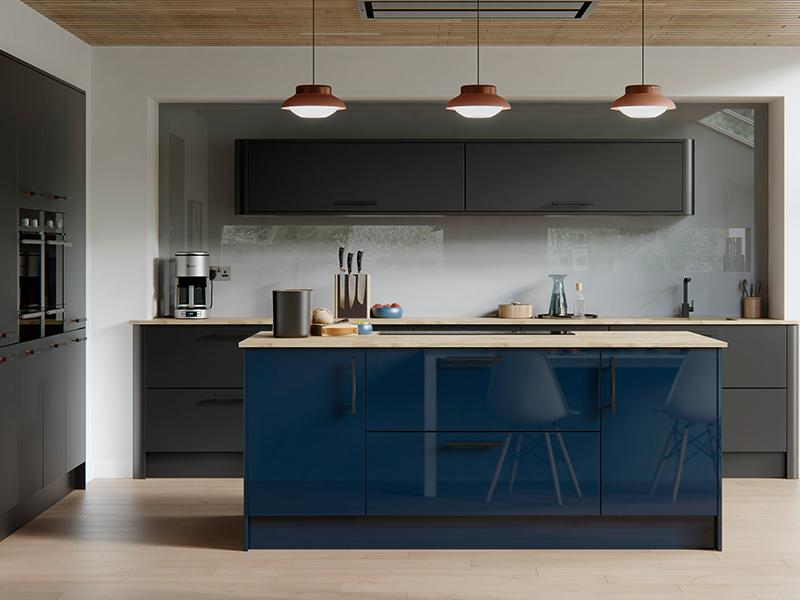 Lloyds Cosdon Twilight Gloss Graphite Matt Kitchen