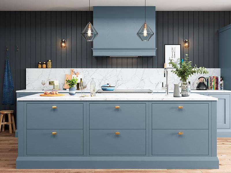 Lloyds Baystone Stone and Blue Kitchen