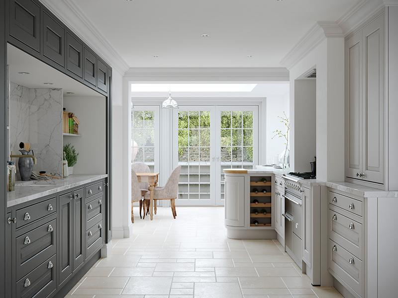 Lloyds Eildon Bespoke Light Grey Slate Grey Kitchen