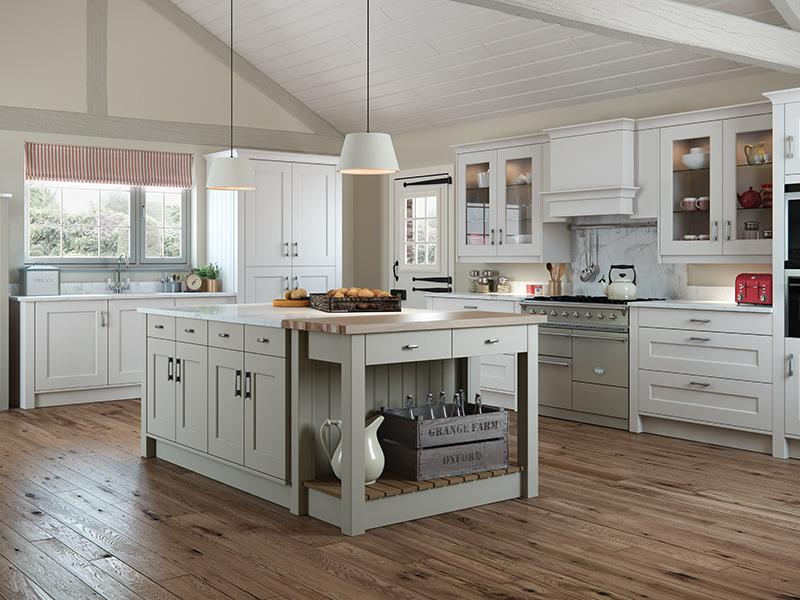 Lloyds Florence Painted Stone Light Grey Kitchen