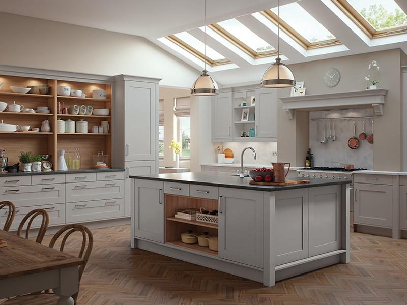 Lloyds Georgia Modern Light Grey Kitchen