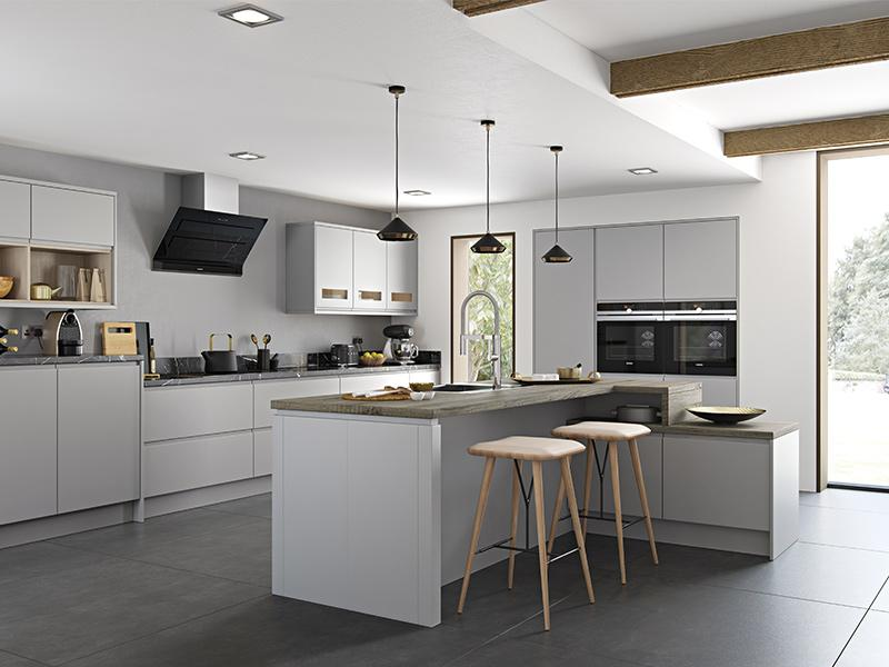 Lloyds Strada Matte Light Grey Kitchen
